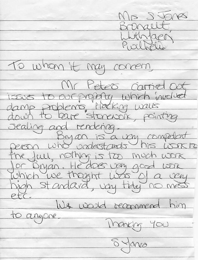 Original Testimonial