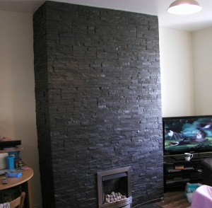 Slate Cladded Chimney Breast