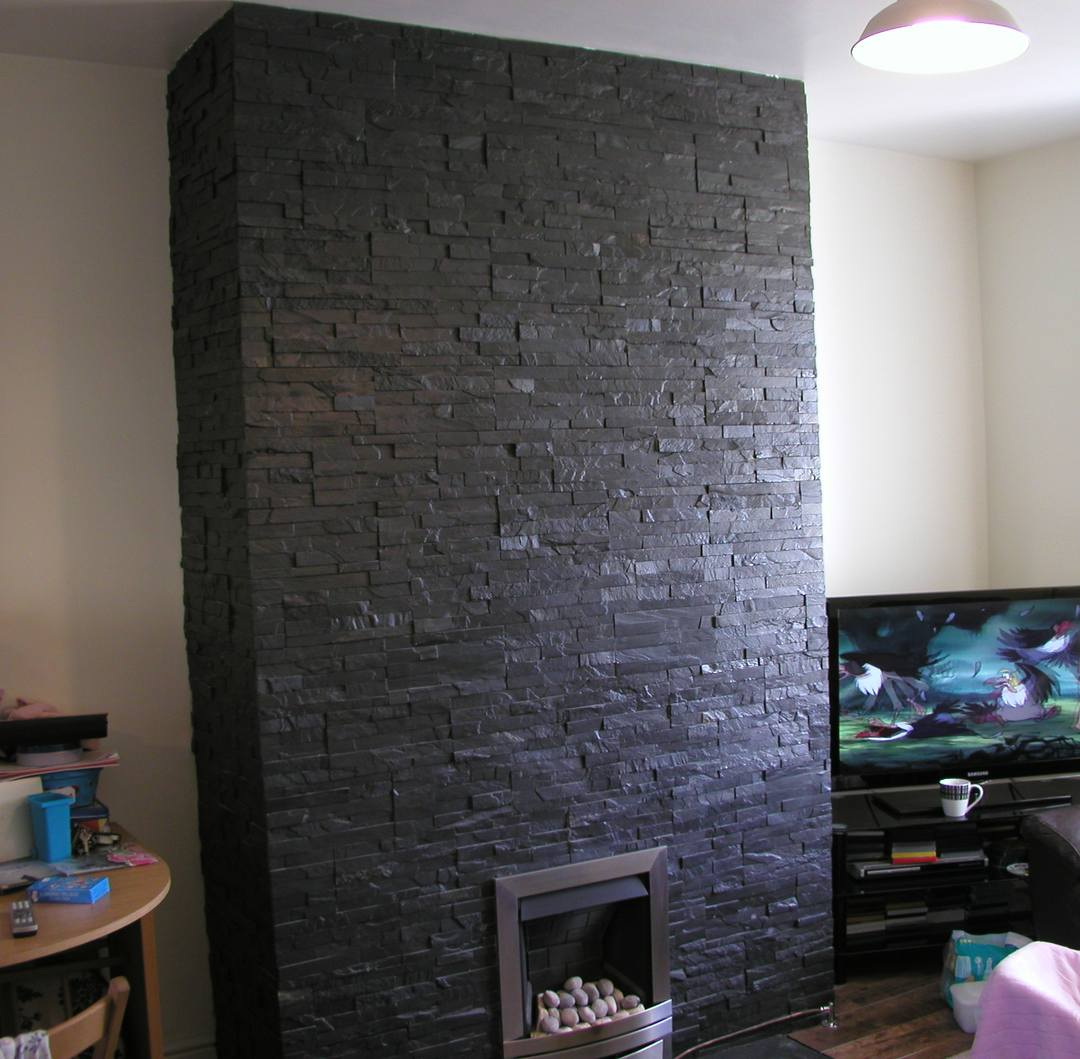 Inglenooks feature fireplaces in gwynedd north wales for Tiled chimney breast images