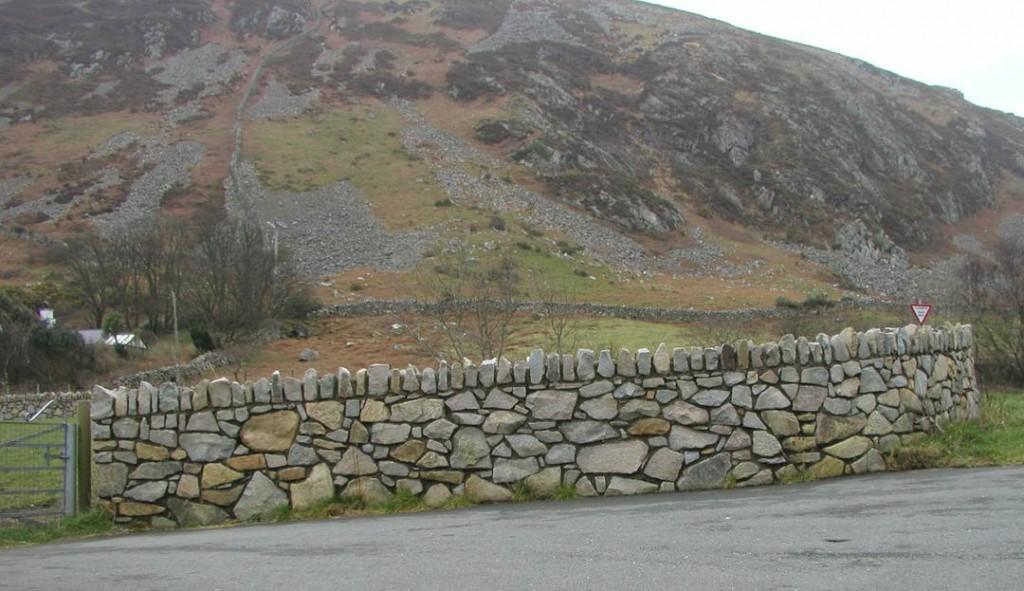 Random Stone Boundary Wall Gwynedd Building Restoration