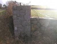 Slate Block Pillar