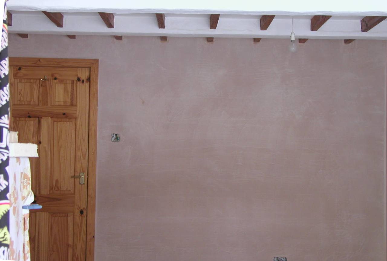 Re-plastered Room