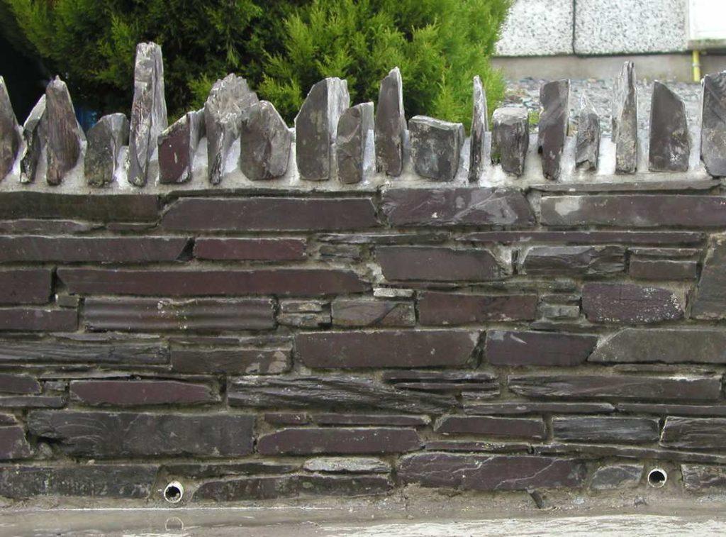 Close Up Slate Block Wall